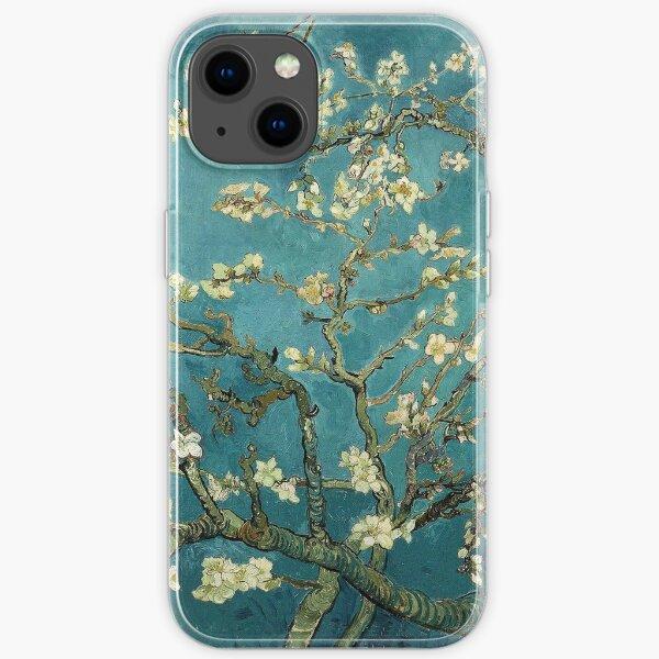 Original Vincent Willem van Gogh Impressionist Art Painting Restored Blossoming Almond Tree iPhone Soft Case