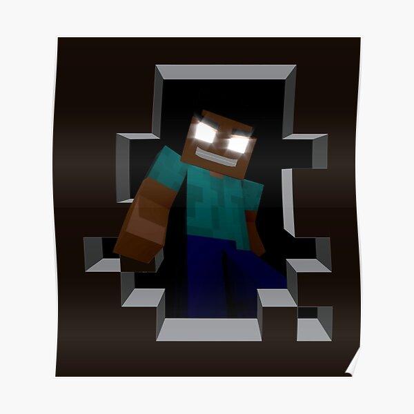 Herobrine Minecrafter Poster