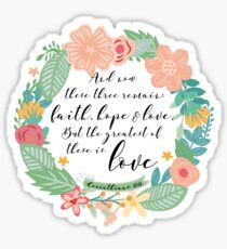 Corinthians 13:13 colores Sticker
