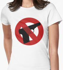 No more gun violence  Womens Fitted T-Shirt