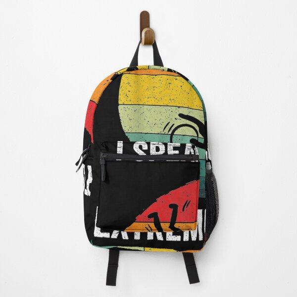 I Speak Fluent Extreme Sports Vintage Extreme Sport Gift  Backpack