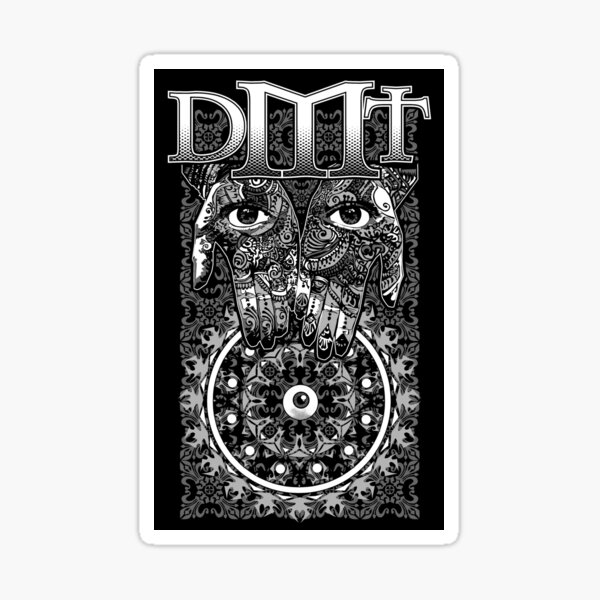 "DMT - White ""In gods Hands"" Sticker"