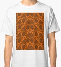 Pumpkin Orange and Black Halloween Python Faux Snakeskin Classic T-Shirt