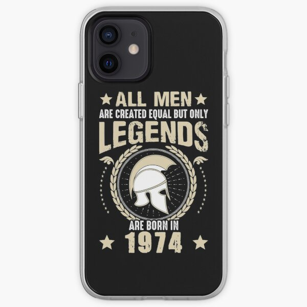 All Man Are Equal Legends Are Born In 1974 iPhone Soft Case