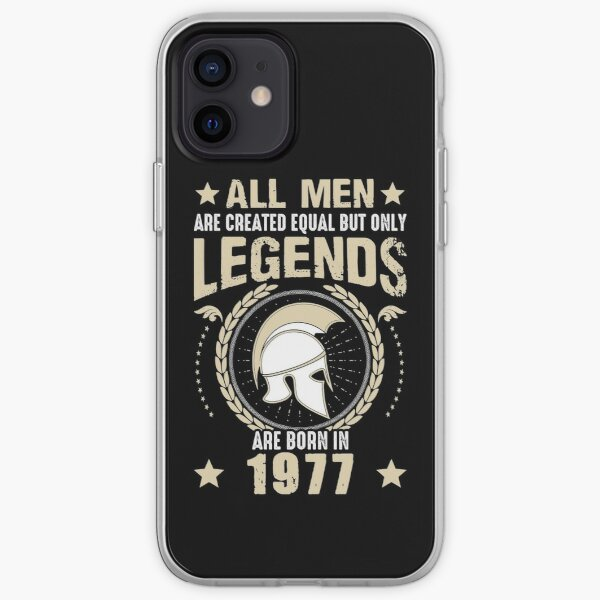 All Man Are Equal Legends Are Born In 1977 iPhone Soft Case