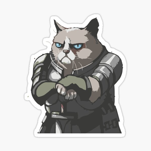 cat in armor Sticker