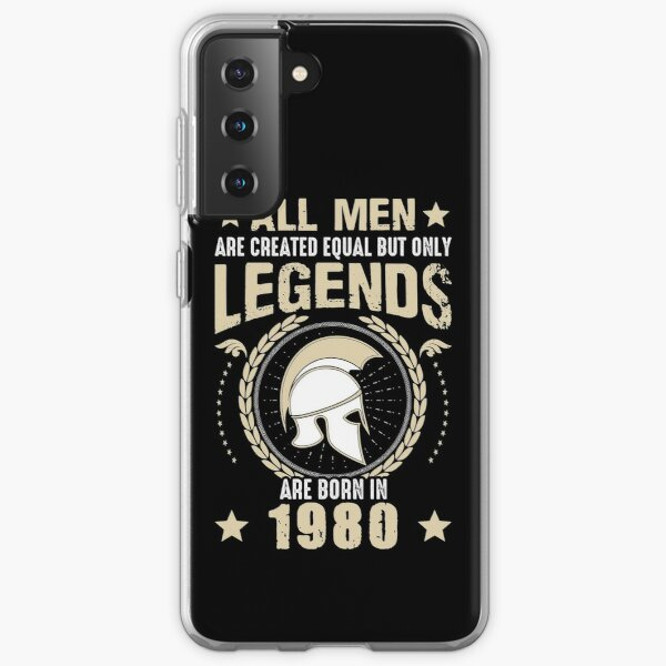 All Man Are Equal Legends Are Born In 1980 Samsung Galaxy Soft Case