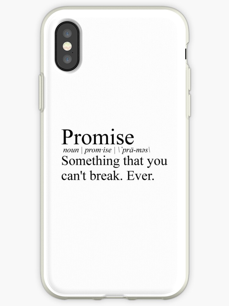 the best attitude a56a4 de555 'Stranger Things Promise definition from Mike to Eleven' iPhone Case by  tziggles
