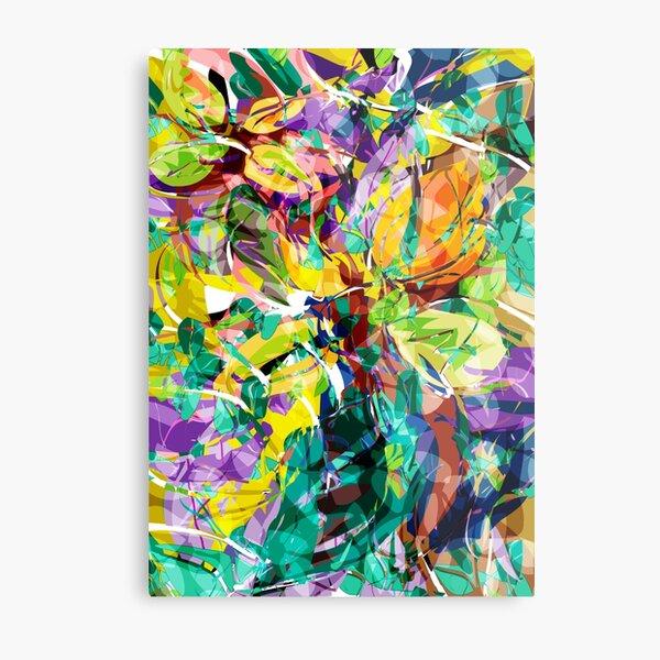 Colorful evergreen Flora,  Rolando Paciel Metal Print