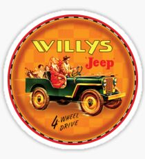 Willys post war Jeep Sticker
