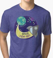 Space Demi Boy T-shirt chiné