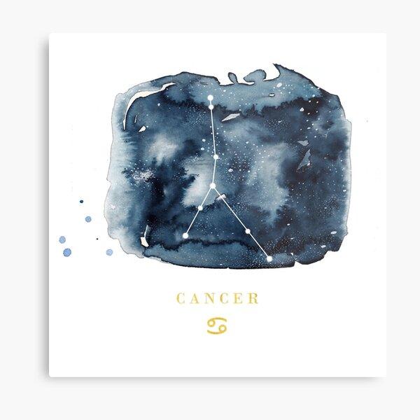 Cancer Zodiac Constellation Metal Print