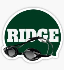 Ridge Swimming Cap and Goggles Sticker
