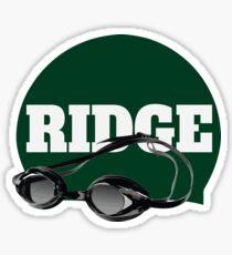 Ridge Swimming Cap and Goggles Sticker