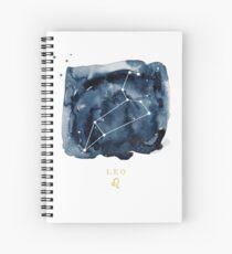 Leo Zodiac Constellation Spiral Notebook