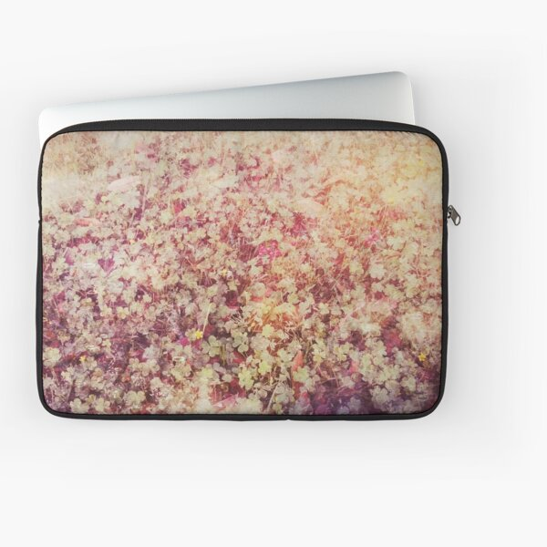 A Bed of Enchanted Clovers Laptop Sleeve