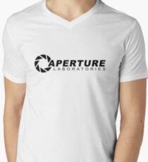 Portal 2: Aperture Science Logo Men's V-Neck T-Shirt