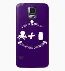 food is anarchy Case/Skin for Samsung Galaxy