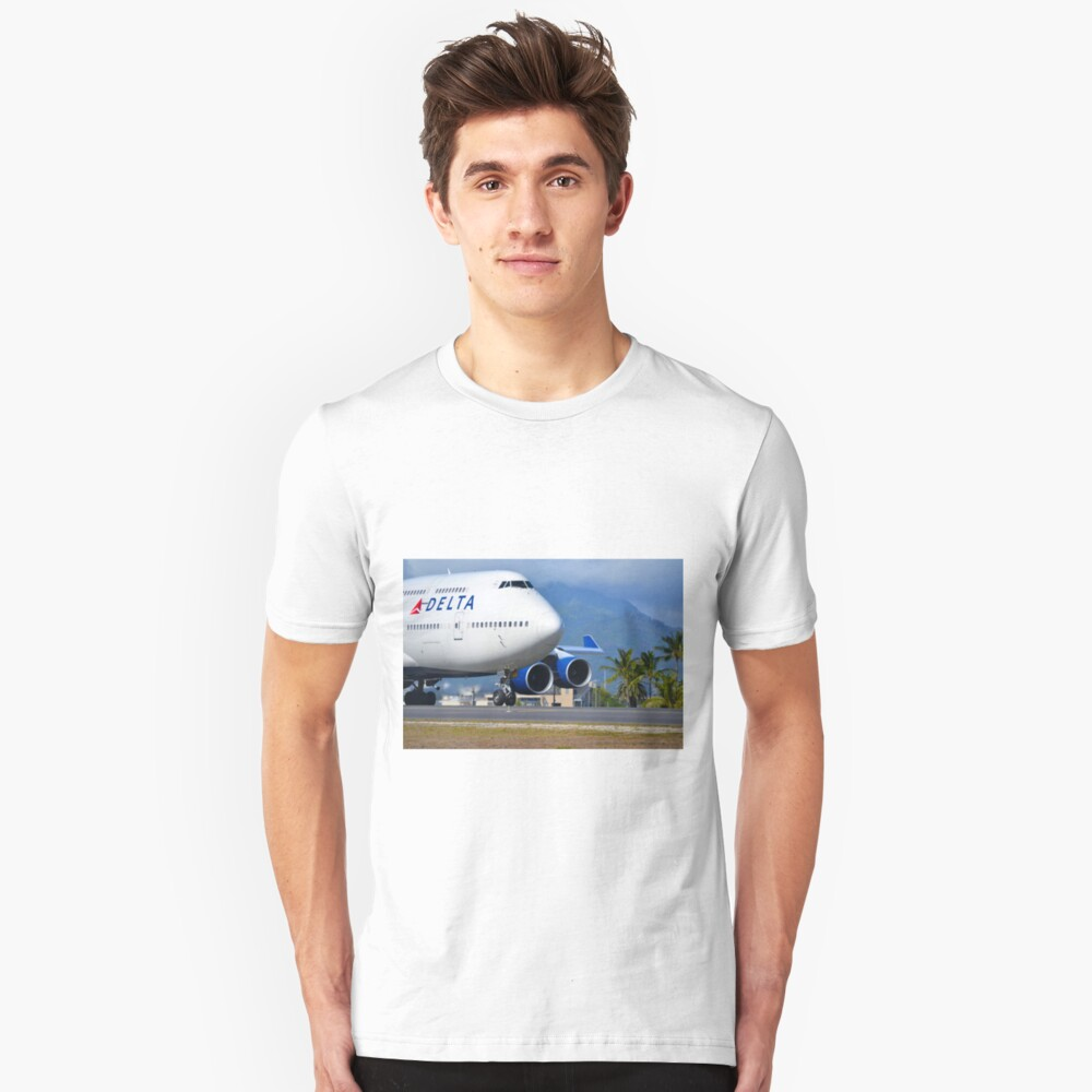 Boeing 747 Unisex T-Shirt Front