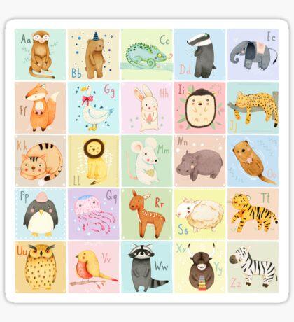 German Animal Alphabet Sticker