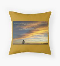 New Heavens and a New Earth - 2 Peter 3:12-14 Throw Pillow