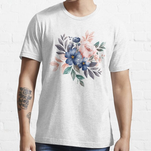 Nature - Watercolor floral bouquets with roses Essential T-Shirt