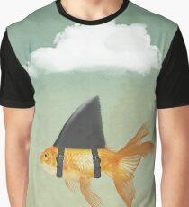 Under a Cloud, Goldfish with a Shark fin Graphic T-Shirt