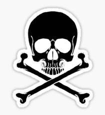 Black Skull and crossbones Sticker
