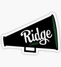 Ridge Cheer Megaphone Sticker