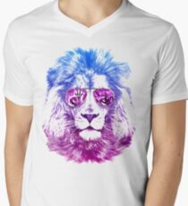 Tackle The Gazzle Says Mr. Lion Mens V-Neck T-Shirt