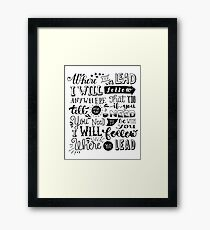 where you lead {gilmore girls} Framed Print