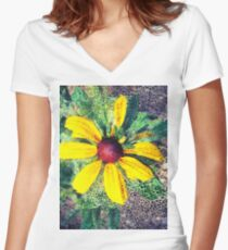 Sunny Flower Women's Fitted V-Neck T-Shirt