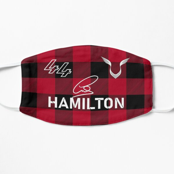 Lewis Hamilton Special Signed Red 2021 Flat Mask