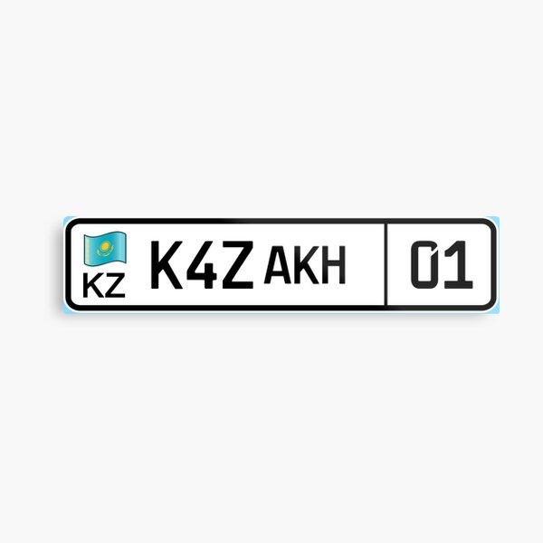 Kazakhstan car license plate Metal Print