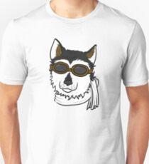Pilot Husky Portrait T-Shirt