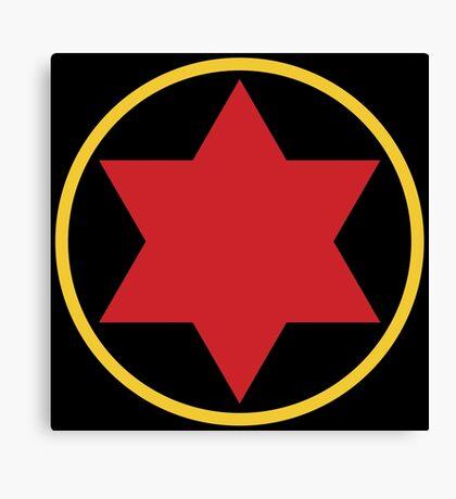 Black Widow Logo Redesign Canvas Print