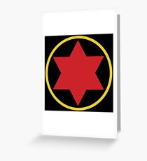 Black Widow Logo Redesign Greeting Card