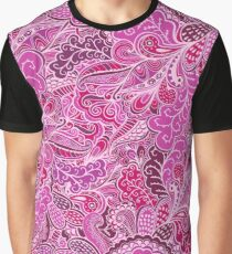 Raspberry Print, in pink and purple shades Graphic T-Shirt