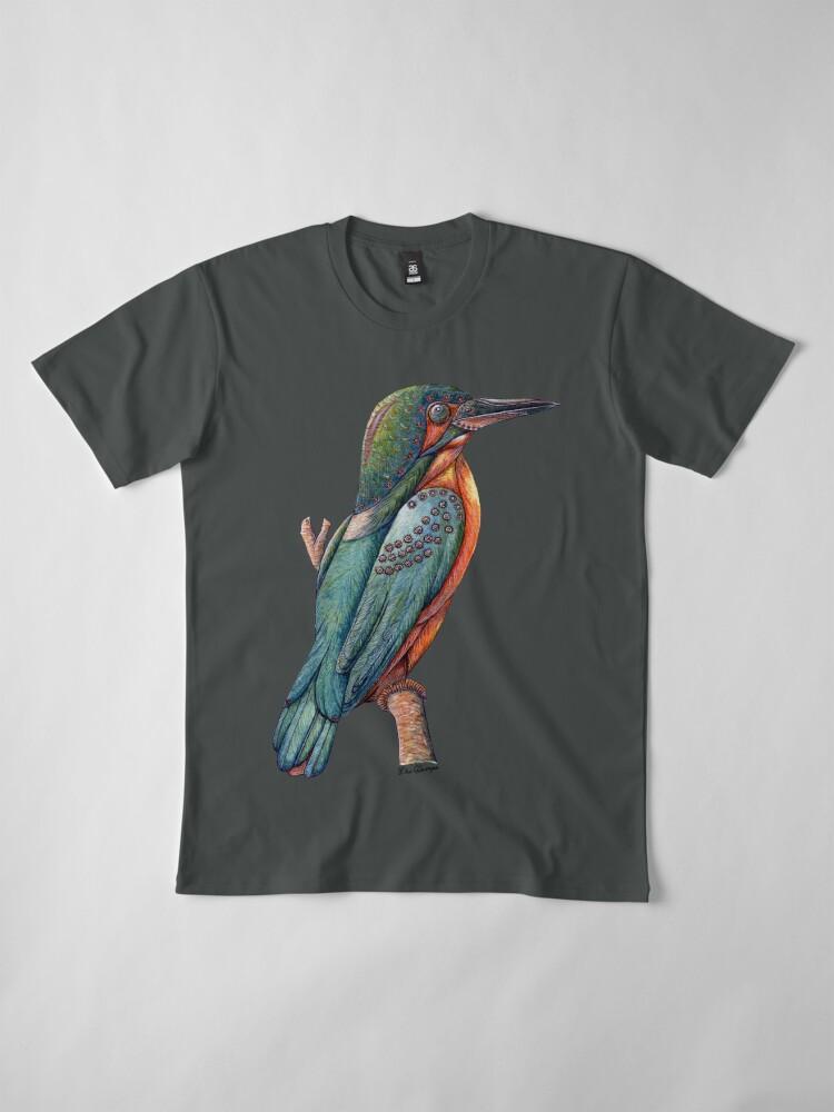 Alternate view of Kingfisher Bird Premium T-Shirt