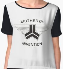 Red vs blue: Mother of Invention Women's Chiffon Top