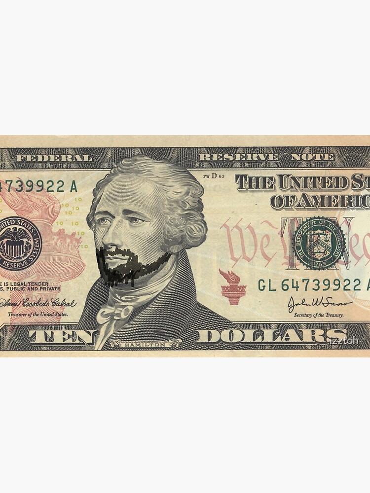 Lin-Manuel Miranda es Alexander Hamilton $ 10 Bill de izztoh
