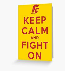 USC Fight On (Gold)  Greeting Card