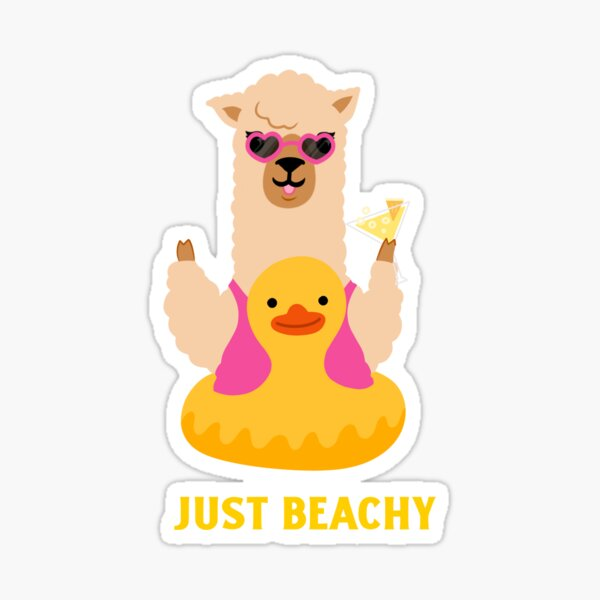 Just Beachy, Going to the Beach  Sticker