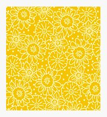 Yellow Floral Photographic Print