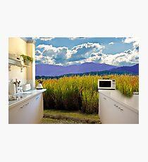 Open rural kitchen Photographic Print