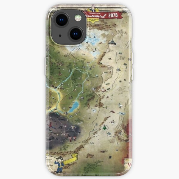 Fallout 76 map detailed  iPhone Soft Case