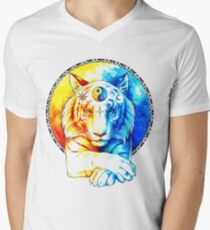 Zen Tiger Mens V-Neck T-Shirt