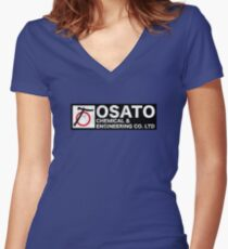 Osato Chemical Engineering Women's Fitted V-Neck T-Shirt