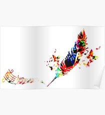 Feather Music Poster