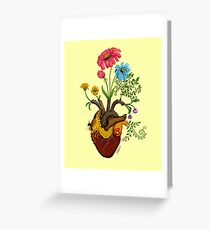 Harvest Peace, Grow Love - Bee Here Now Greeting Card
